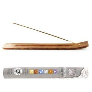Porte-encens en bois + 14 bâtonnets...