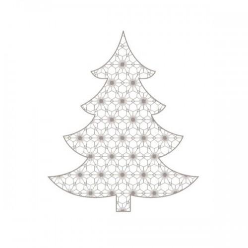 Almohadilla de madera - Árbol de Navidad