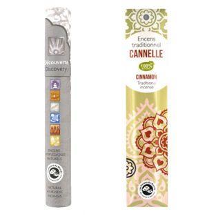 Encens indien Cannelle 20 bâtonnets +...