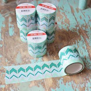 Fat Roll Washi - Blue