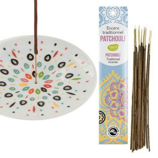 Porcelain incense holder bowl Samba +...