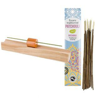Porte-encens en bois précieux Hinoki...