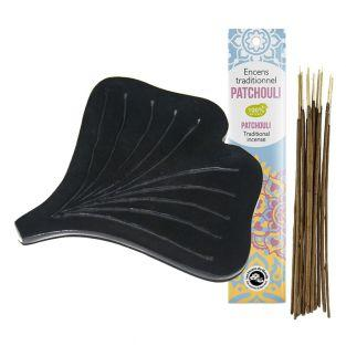 Ginko incense holder + Patchouli...