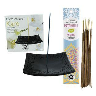 Incense holder black stone...