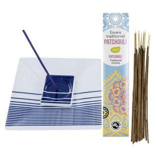Square Incense holder with...