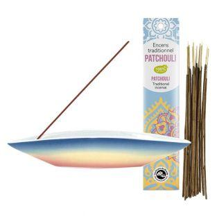 Pirogue incense holder + Patchouli...