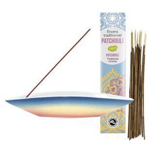 Possessore di incenso canoa + Incenso...