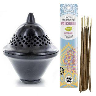 Black stone Censer Incense holder...