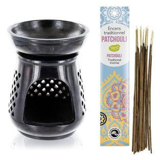 Moucharabieh incense holder black...