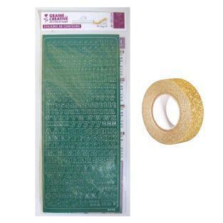Pegatinas alfabeto 10,5 x 23,2 cm...