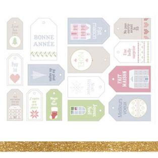 15 etiquetas de Navidad Home Sweet...