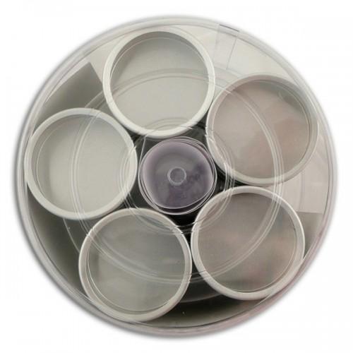 15 boîtes métalliques - couvercle transparent