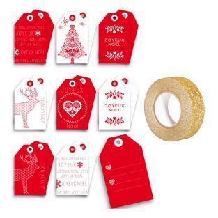 Etiquetas de la Navidad escandinava +...