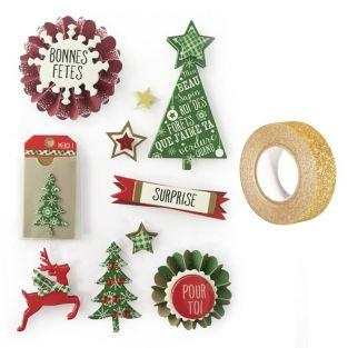 3D stickers Christmas trees 7 cm x 10...