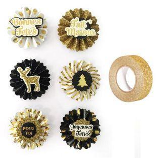6 pegatinas 3D medallones...