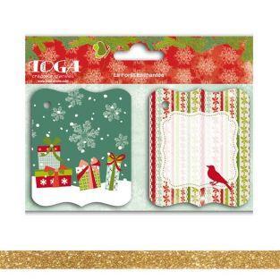 Etiquetas Navidad antiguo + Masking...