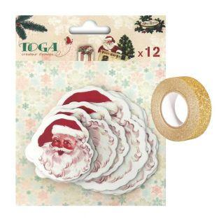 12 scrapbooking die-cuts...