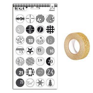 Stickers Advent Calendar Black &...