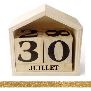 Calendario perpetuo casa de madera 8...