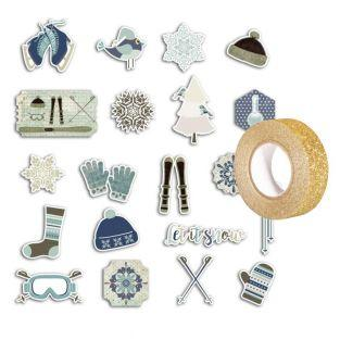 20 scrapbooking die-cuts Frosted...