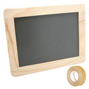 Ardoise bordure bois 21,5 x 17 cm +...