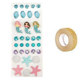 33 3D stickers Sea + Golden...
