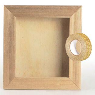 Cadre en bois vitrine ou photo 17 x...