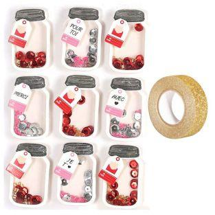 9 3D effect stickers Small Jar +...