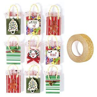 3D Christmas stickers x 9 Gift bag 5...