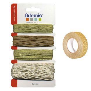 Kit spaghi dorati + washi tape dorato...