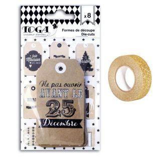 Perforated Christmas Labels Kraft +...