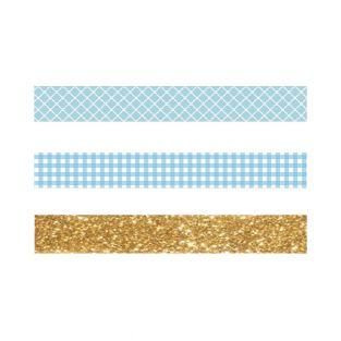 2 Masking Tapes kariert blau & weiß +...