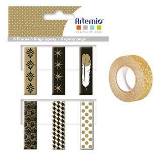 6 Epoxy clothespins...