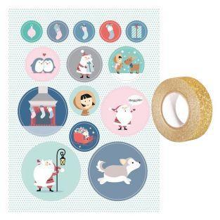 Livret 168 stickers Père Noël My...