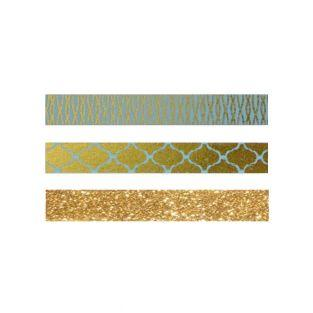 3 Masking Tapes Golden-blau mit...