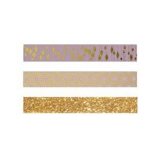 3 masking tapes dorados -...