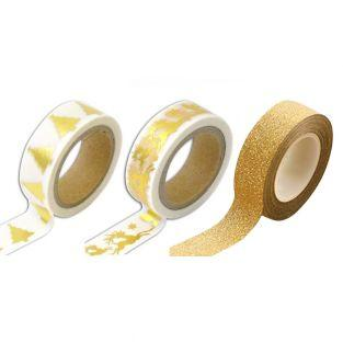 3 Christmas masking tapes - white &...
