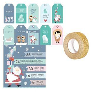 Set stickers, labels, envelopes for...