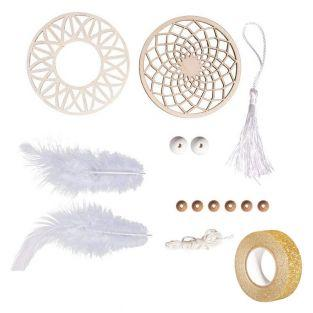 Kit Dreamcatcher 26 cm wooden disc ø...