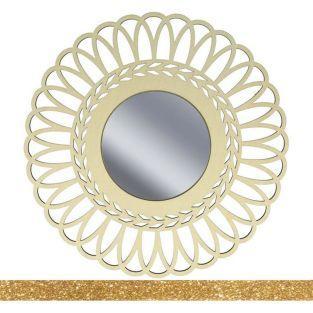 Specchio con cornice in legno 28 cm...