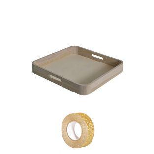 Wooden tray 35 x 25 cm +...