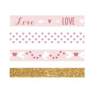 3 St Valentine's Day masking tapes...