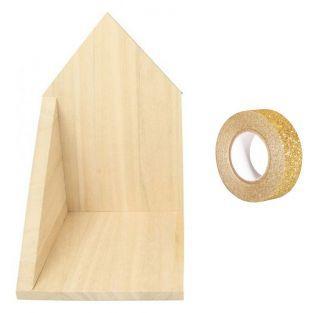 Etagère d'angle en bois 14,7 x 22 x...
