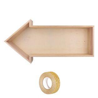 Etagère bois Flèche 40 x 20 x 7 cm +...