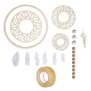 Kit Dreamcatcher 74 cm Wood disc ø 18...