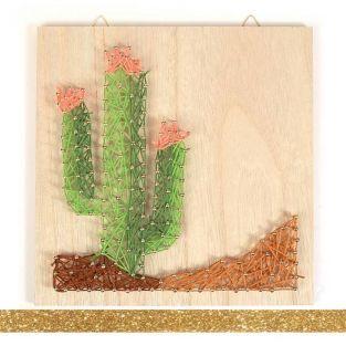 Holzrahmen String Art 22 x 22 cm...