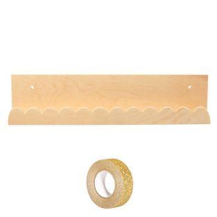 Mensola in legno 42 x 9 cm Festone +...