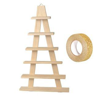 Wooden shelf easel 6 boards 30 x 50.5...