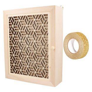 Wandschlüsselkasten aus Holz zum...