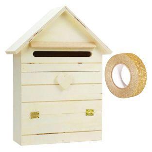 Briefkasten aus Holz zum Verzieren 22...